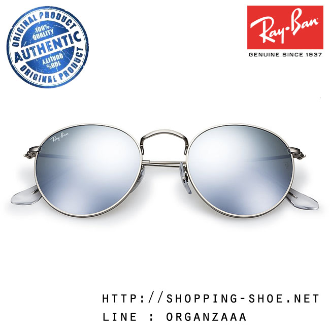 RayBan - RB3447 019/30 Round Metal Silver Flash Lens, 50 mm.