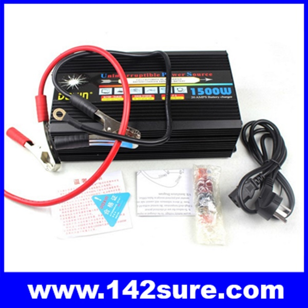 SIN011 อินเวอร์เตอร์ ขนาด1500W Sine Wave Power Inverter เครื่องแปลงไฟ 12VDC เป็นไฟฟ้าบ้าน 220V พร้อมชาร์ทแบตเตอรีได้ในตัว