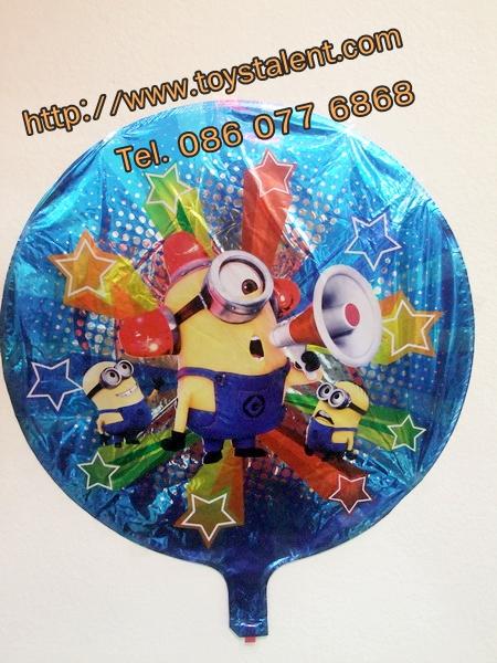 ลูกโป่งฟลอย์ ทรงกลมลายการ์ตูน Minion ตาเดียว - Minion one Eye round Shape Foil Balloon / Item No.TL-A052