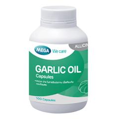 Mega We Care Garlic Oil 100 Capsules เมก้า วีแคร์ กาลิค ออยล์(น้ำมันกระเทียม) 100 แคปซูล