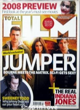 TOTAL FILM FEB 2008 - JUMPER ,SWEENEY TODD, JOHNNY DEPP