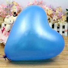 """ลูกโป่งหัวใจ เนื้อเมททัลลิก สีน้ำเงินไซส์ 12 นิ้ว แพ็คละ 10 ใบ (Heart Latex Balloon - Metallic Royal Blue Color 12"""")"""