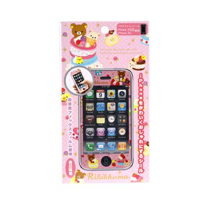 [สินค้าหมด] สติ๊กเกอร์กันรอย iPhone San-X Rilakkuma SE03901 ชมพู