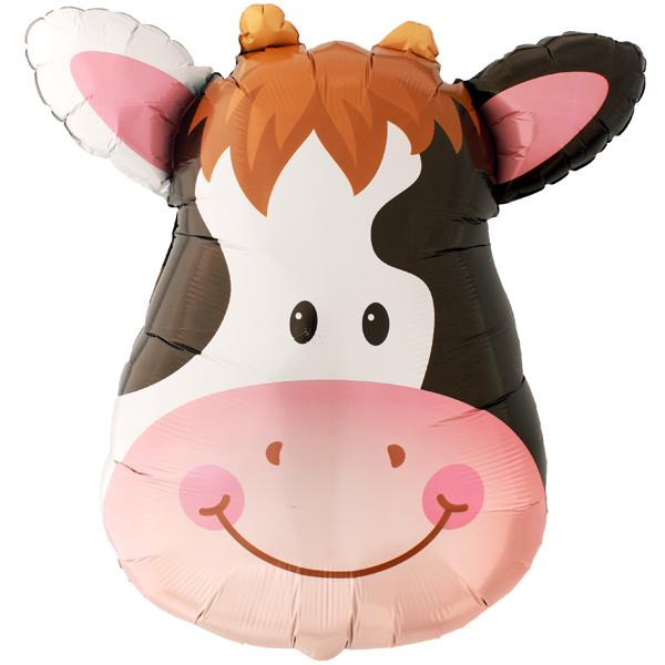 ลูกโป่งฟลอย์ หน้าวัว - Cow Face Foil Balloon / Item No. TL-B045