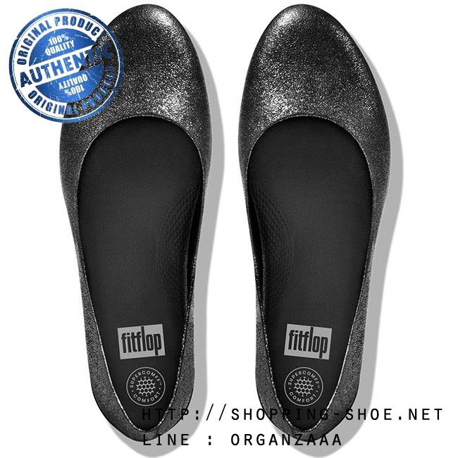 Fitflop Leather Superballerina Anthracite ของแท้ นำเข้าจาก USA และ UK