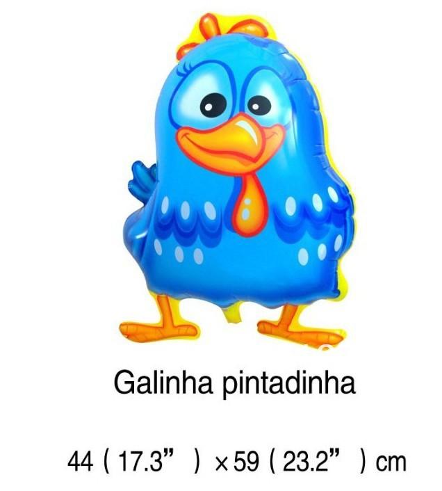 ลูกโป่งฟลอย์ การ์ตูนไก่ Galinha Pintadinha - Galinha Pintadinha Foil Balloon / Item No.TL-B021