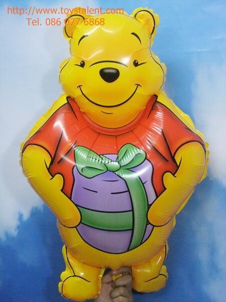 ลูกโป่งฟลอย์ หมีพูห์ - Winnie The Pooh with honey Foil Balloon / Item No. TL-B033