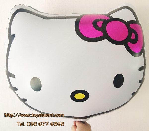 ลูกโป่งฟลอย์ หน้า Hello Kitty ไซส์เล็ก46 X 46 cm - Hello Kitty Face size 46 X 46 cm cm Foil Balloon / TL-A093