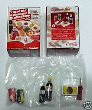 COCA COLA Minitaure Convenience Store DRINK FOOD set 8