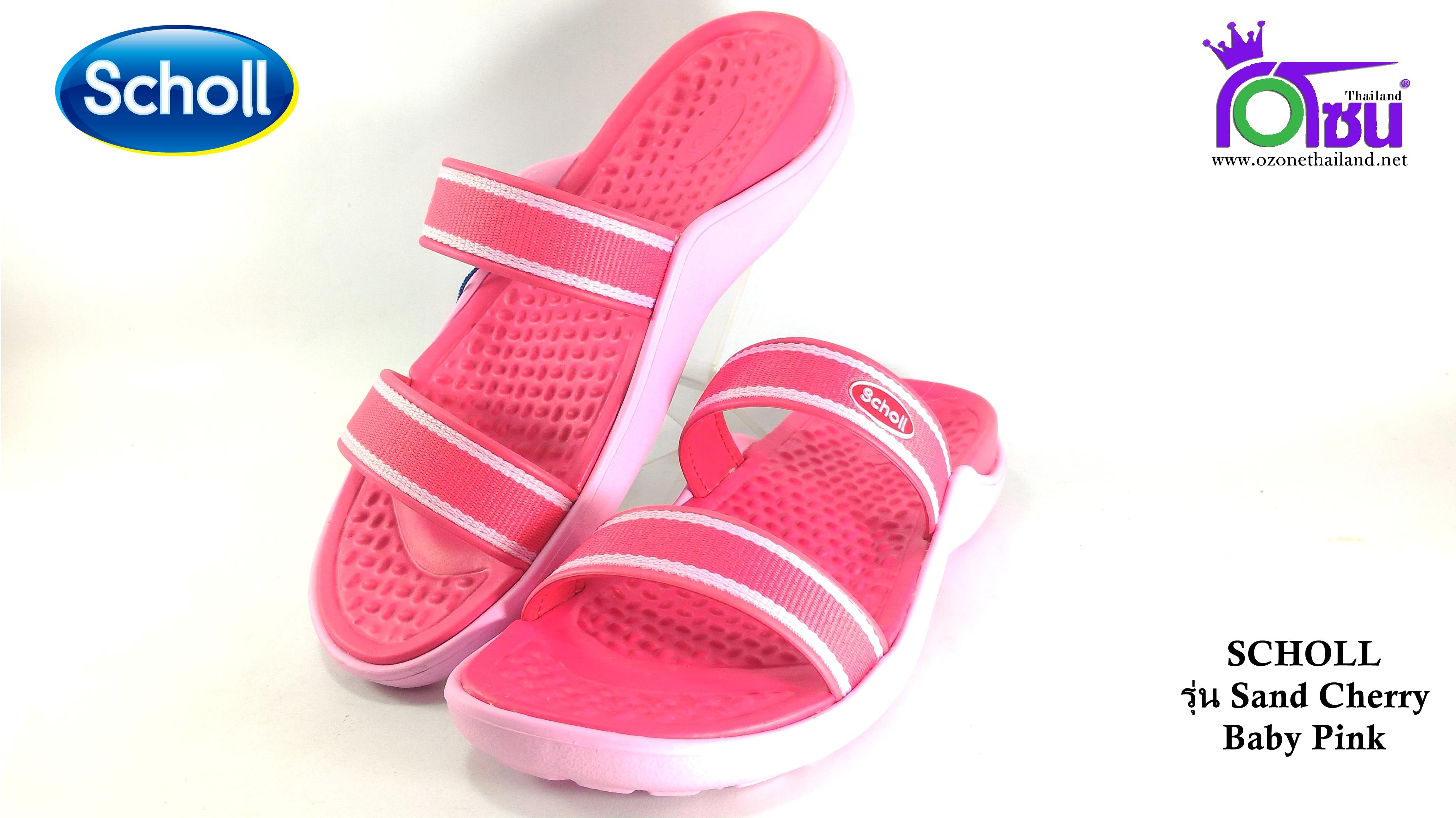 รองเท้า scholl sand สกอล์แชนด์ สีชมพู เบอร์2-6