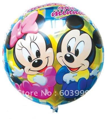 ลูกโป่งฟลอย์ลาย Baby Mickey and Minnie ทรงกลม (แพ็ค10ใบ)/ Item No. TL-A026