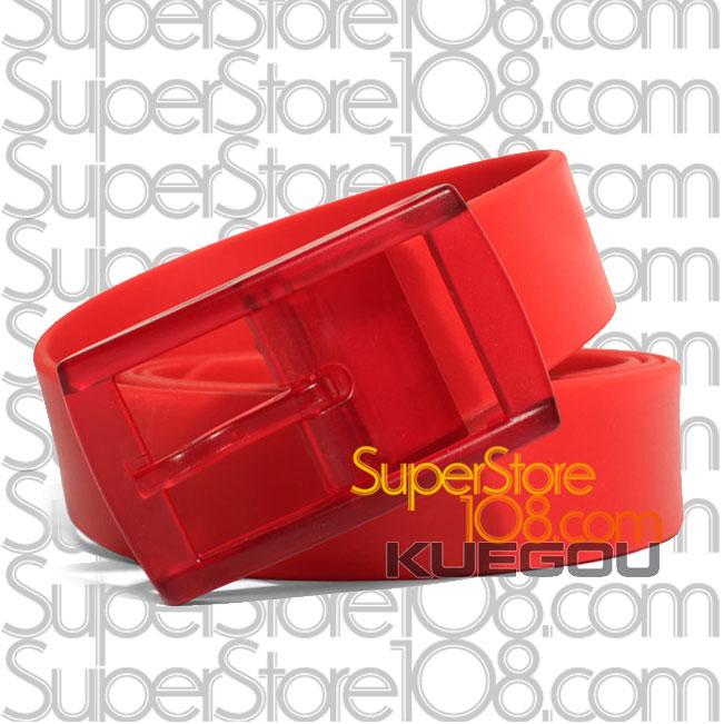 เข็มขัดซิลิโคน Candy Color Belt : สีแดง