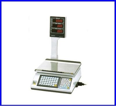 เครื่องชั่งคำนวณราคา ขนาดน้ำหนักชั่ง30kg ความละเอียด5g หน้าจอแสดงผลLED 3หน้าจอ (โปรแกรมเครื่องชั่ง หักน้ำหนักภาชนะ, คำนวณราคา, ทอนเงิน)