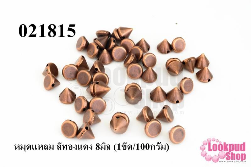 หมุดแหลม สีทองแดง 8มิล (1ขีด/100กรัม)