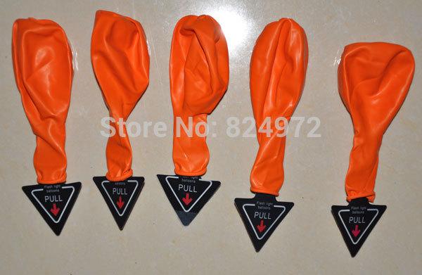 ลูกโป่ง LED สีส้ม แพ็ค 5 ชิ้น ไฟกระพริบ Blink mode (Orange Color Balloons - LED Blink Mode)