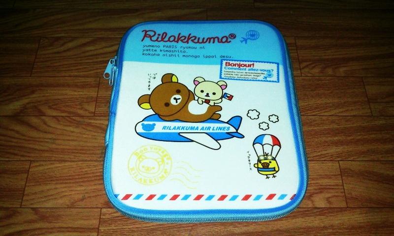 กระเป๋าใส่ ipad Rilakkuma สีฟ้า