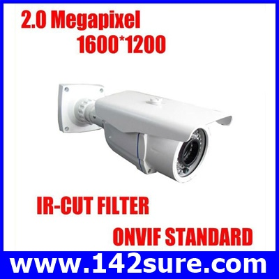 IPC009 กล้องIP CAMERA HDC632 Varifocal Lens 2megapixel Resolution reach to 1600×1200 outdoor waterproof IR distance:35M ยี่ห้อ Kiirie รุ่น HDC632