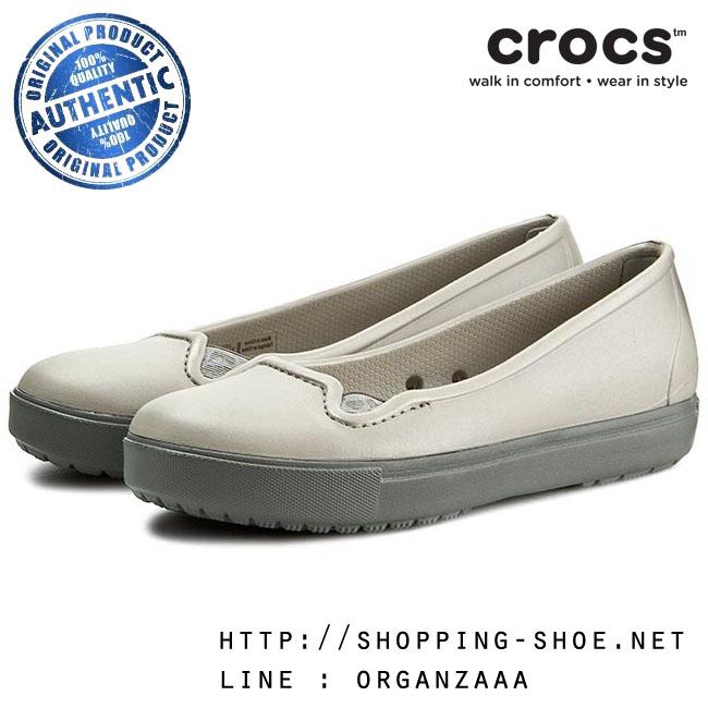 W7 (24 cm.) : Crocs Citilane Flat - Platinum ของแท้ Outlet ไทยและอเมริกา
