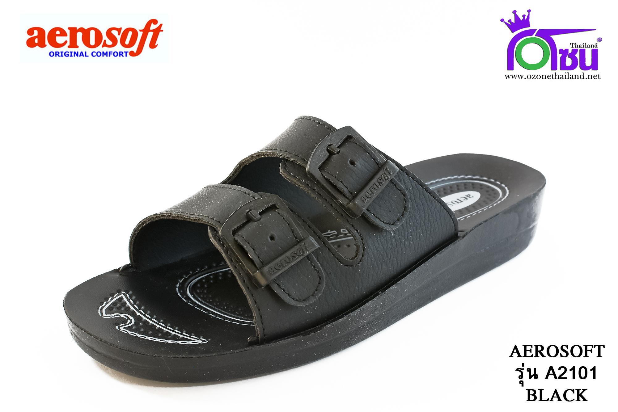 รองเท้า Aerosoft รหัส A2101 สีดำ เบอร์ 36-41