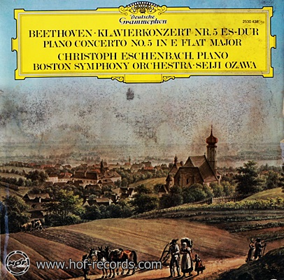 Christoph Eschenbach, - Beethoven Klavierkonzert NR 5 1lp