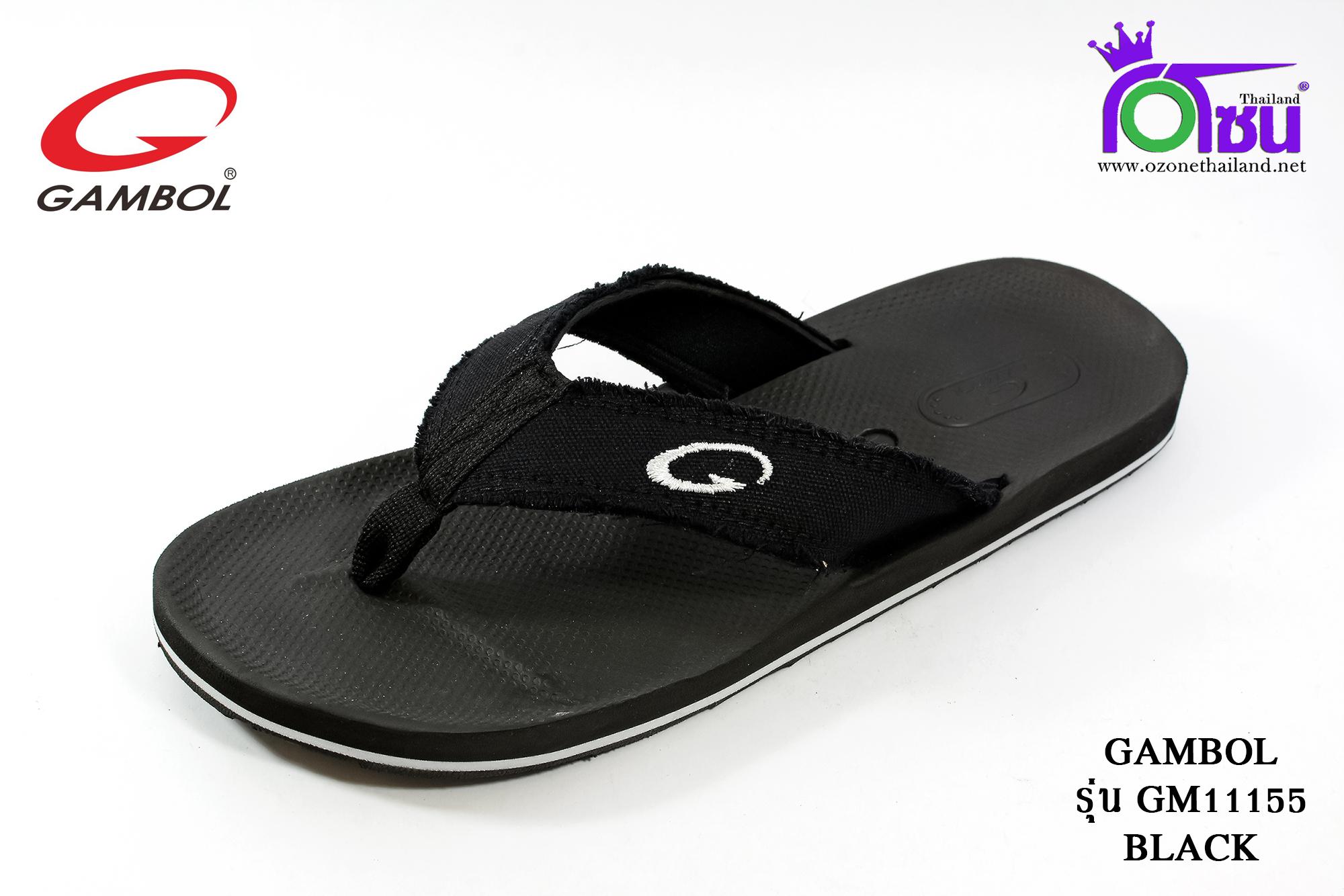 รองเท้าแตะGambol แกมโบล รหัส GM11155 สีดำ เบอร์ 40-44 สำเนา