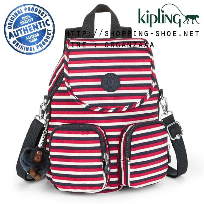 Kipling Firefly Up Backpack - Sugar Stripes (Belgium)