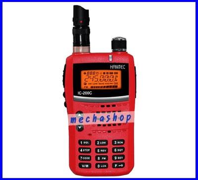 วิทยุสื่อสารเครื่องแดง HAMTEC รุ่น IC-200C ความถี่ 245.000MHz - 245.9875MHz กำลังส่ง 5 วัตต์(Hi), 1 วัตต์(Low)