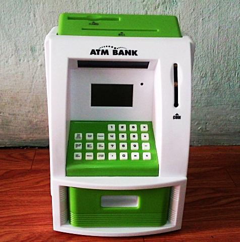 ตู้ ATM ออมสิน ขาวเขียว (ซื้อ 3 ชิ้น ราคาส่ง500 บาท ต่อชิ้น)