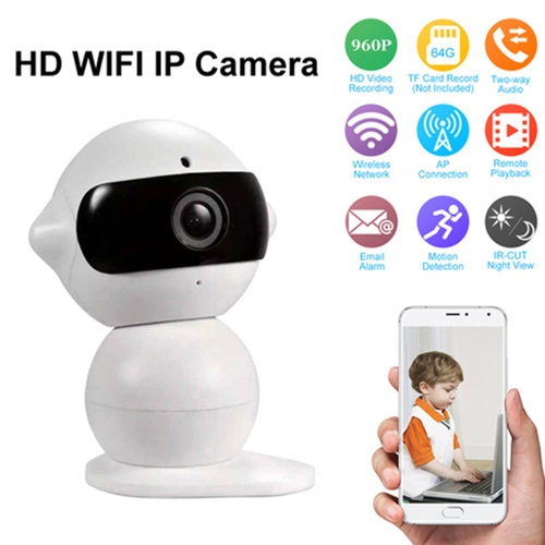 Dual-HD Wireless IP Camera Wifi กล้องวงจรปิดไร้สาย ดูผ่านมือถือได้ รุ่น Mini Robot