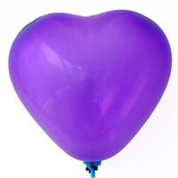 ลูกโป่งหัวใจเนื้อเมททัลลิก สีม่วงเข้ม ไซส์ 12 นิ้ว แพ็คละ 10 ใบ (Heart Shape Balloon-Metallic Deep Purple Color)