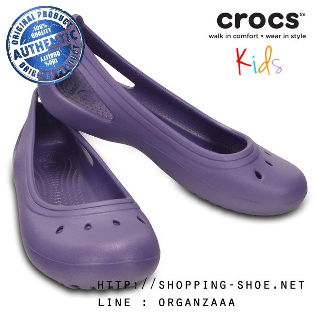 J4 (23 cm.) : Crocs Kadee Flat Girl - Blue Violet ของแท้ Outlet ไทยและอเมริกา