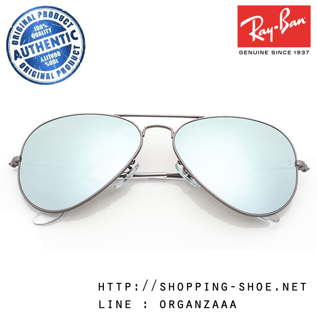 RayBan - RB3025 029/30 Aviator Silver Flash Lens, 58 mm.