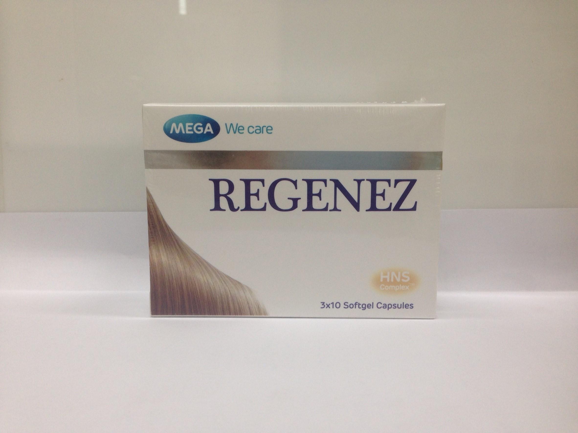MEGA Wecare REGENZE บำรุงเส้นผมให้แข็งแรง ลดการหลุดร่วง