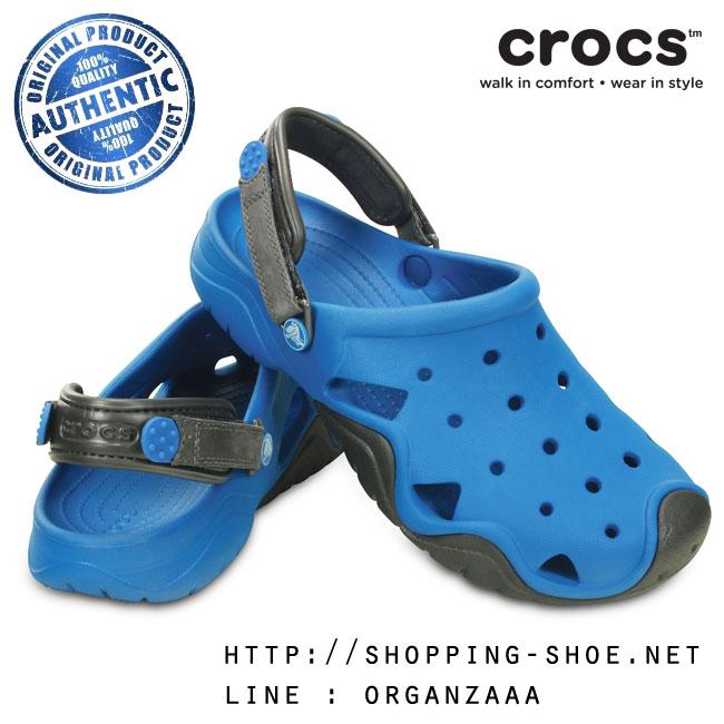M8 (26.5 cm) : Crocs Swiftwater Clog - Ultramarine / Graphite ของแท้ Outlet ไทยและอเมริกา