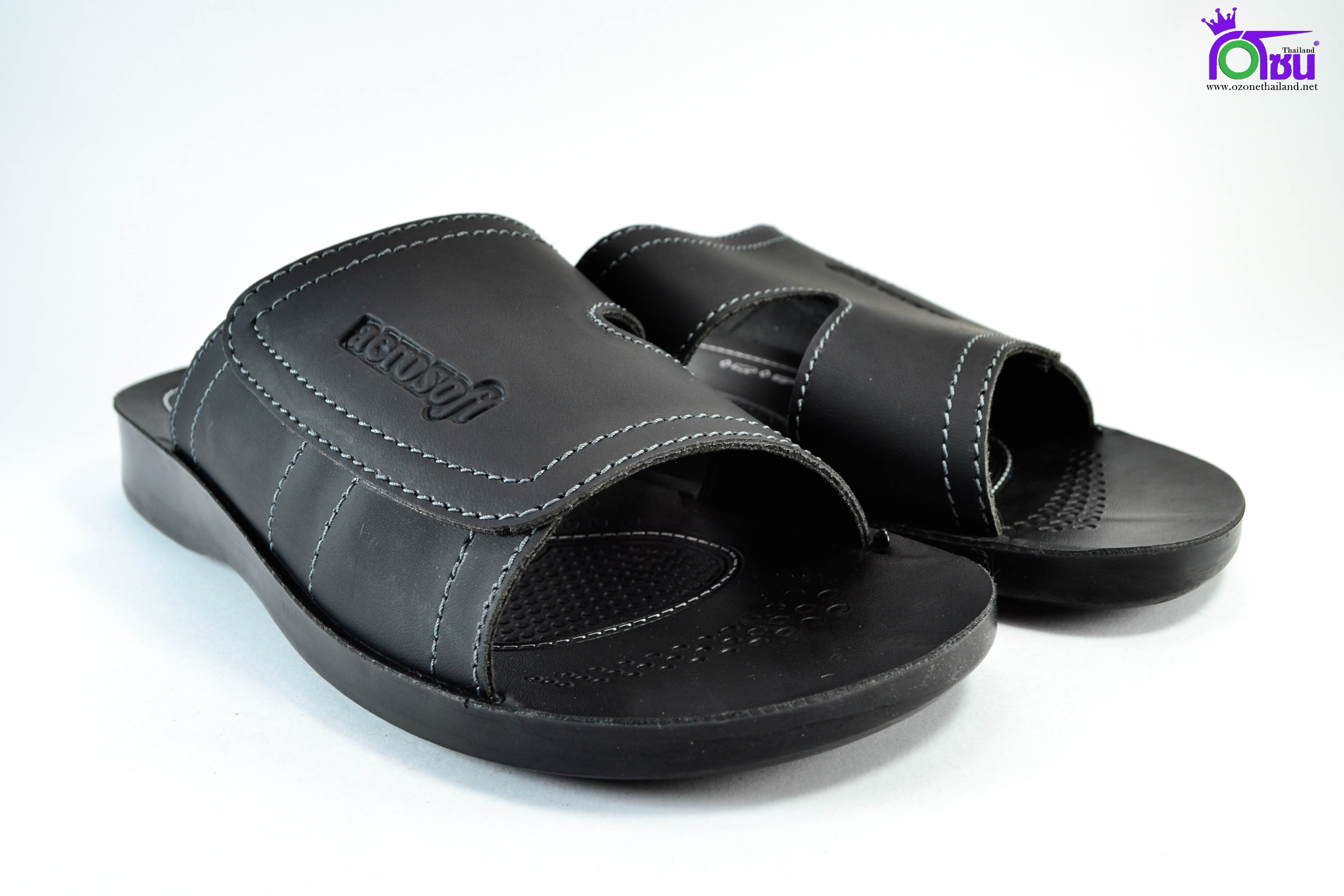รองเท้าหนัง Aerosoft 8181 ดำ