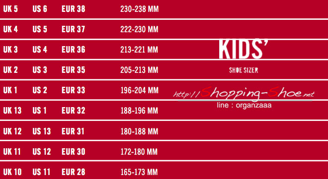 fitflop kids,size chart,fitflop size,ตารางไซส์รองเท้าฟิตฟลอบ,ไซส์รองเท้าฟิตฟลอบ