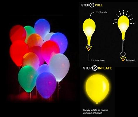 ลูกโป่ง LED คละสี แพ็ค 5 ชิ้น ไฟเปลี่ยนสี (LED Multi Color Balloon - LED RGB Mode)