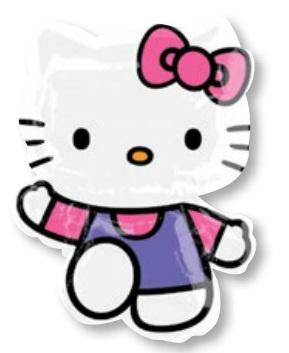 ลูกโป่งฟลอย์นำเข้า Hello Kitty Pink & Purple / Item No. AG-16800 แบรนด์ Anagram ของแท้