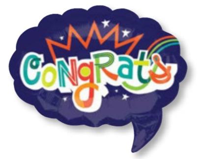 ลูกโป่งฟลอย์นำเข้า Congrats Word Bubble / Item No. AG-26819 แบรนด์ Anagram ของแท้
