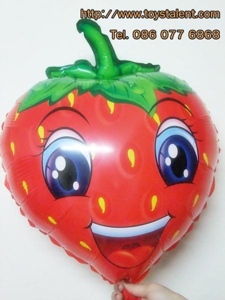 ลูกโป่งฟลอย์ สตอร์เบอร์รี่ - Strawberry Foil Balloon / Item No. TL-A063