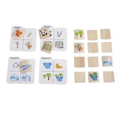 PlanToys ของเล่นไม้ Memo N Matching Animal 5178 [ส่งฟรี]