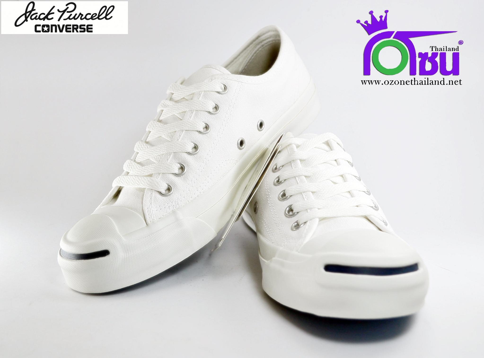 รองเท้าผ้าใบ CONVERSE JACK PURCELL OX WHITE เบอร์ 6.5' 7' 7.5' 8' 8.5' 9' 9.5