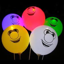 ลูกโป่งคละสี พิมพ์ลายหน้ายิ้ม Smiley แพ็ค 5 ชิ้น ไฟกระพริบ (Smiley latex Balloon - LED RGB Mode)
