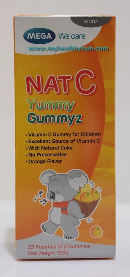 Mega We Care Nat C Yummy Gummyz 50 ชิ้น เมก้า วี แคร์ แนท-ซี ยัมมีกัมมีซ 50 ชิ้น