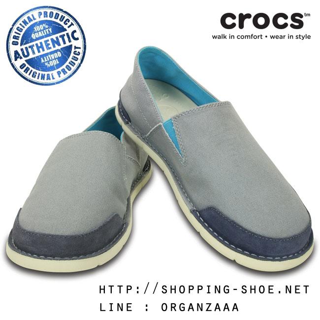 M8 (27 cm.) : Crocs Men's Cabo Loafer - Concrete / Stucco ของแท้ Outlet ไทยและอเมริกา