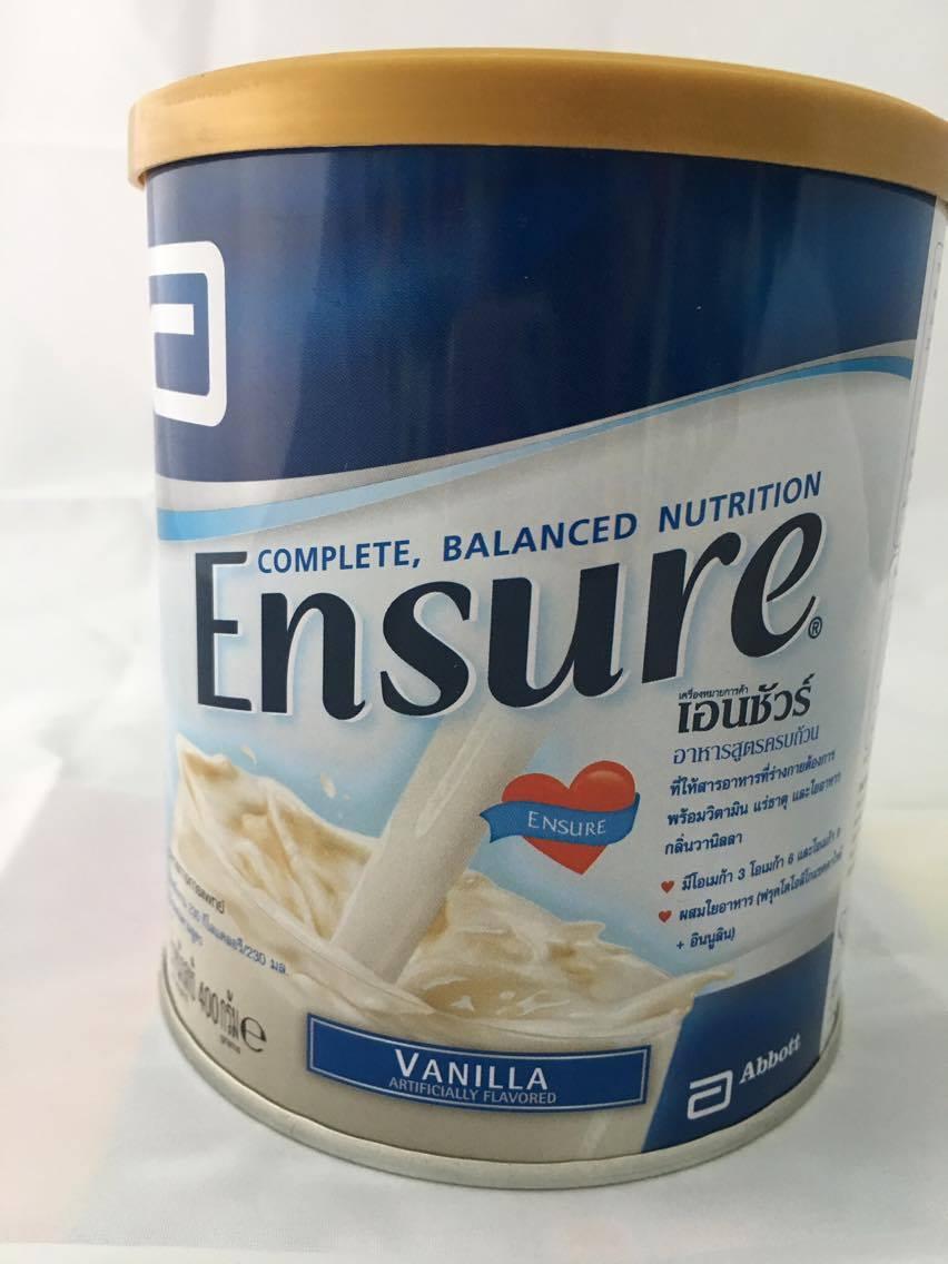 Ensure เอนชัวร์อาหารสูตรครบถ้วน กลิ่นวานิลลา ขนาด 400g เหมาะสำหรับผู้สูงอายุ ผู้ป่วยระยะพักฟื้น ผู้ที่รักษาตัวอยู่ใน รพ ผู้ที่ขาดสารอาหาร หรือรับประทานอาหารไม่ครบถ้วน
