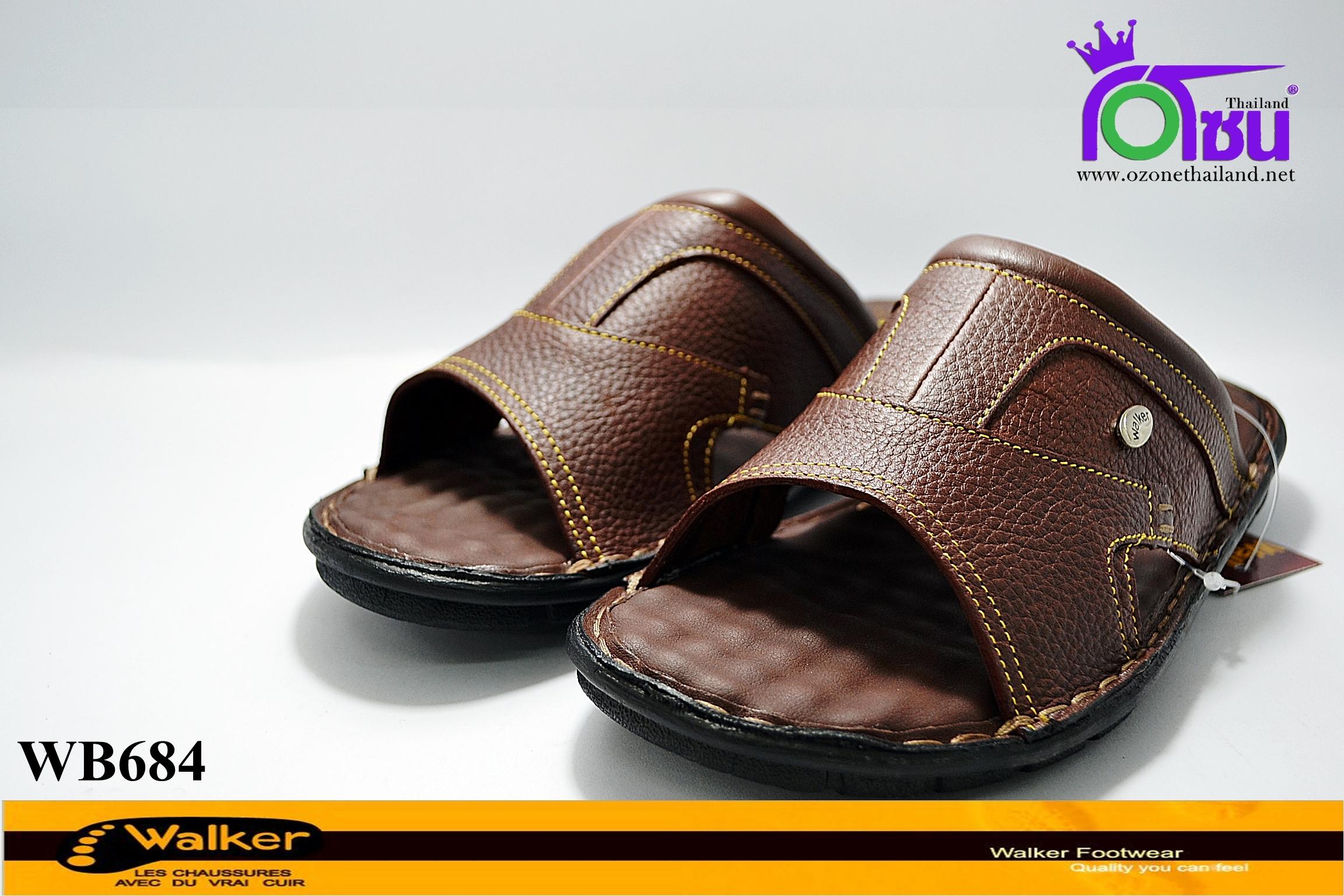 รองเท้า Walker วอร์เกอร์ ชายรุ่นWB684 สีน้ำตาล เบอร์40-45
