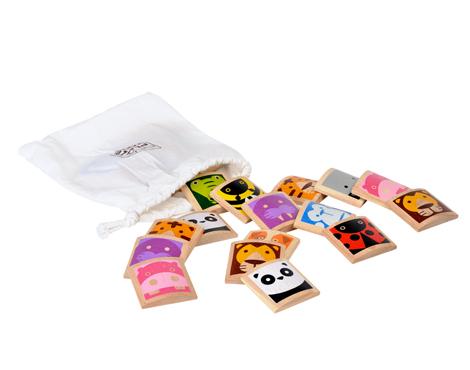 ของเล่นไม้เสริมพัฒนาการเด็ก Animal memo เกมฝึกจำภาพสัตว์ (ส่งฟรี)