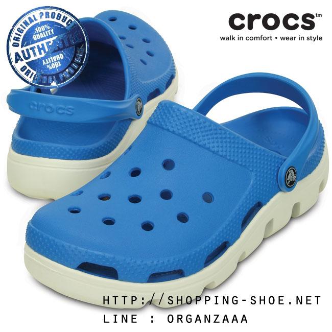 M4/W6 (24 cm.) : Crocs Duet Sport Clog - Ocean / White ของแท้ Outlet ไทยและอเมริกา