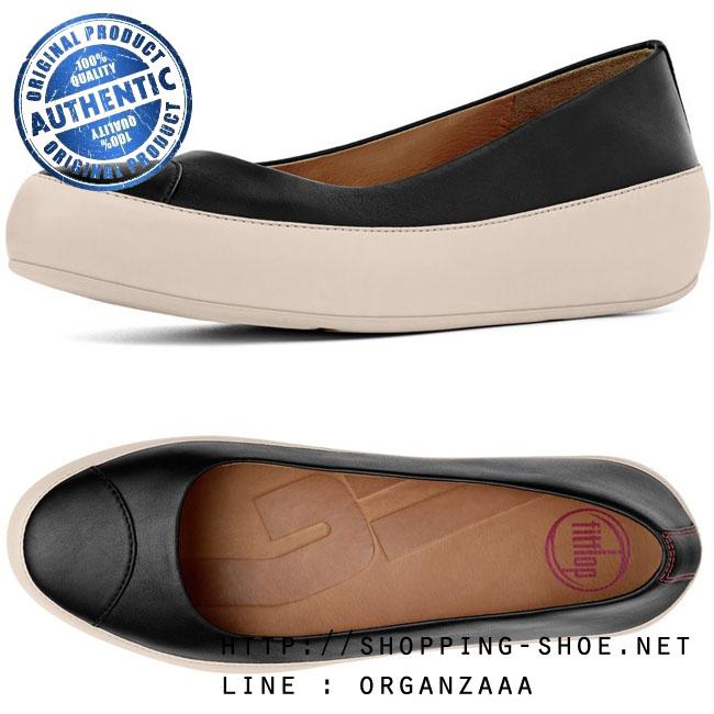 Fitflop Due Leather Black/Marshmallow ของแท้ นำเข้าจาก USA และ UK (มีกล่อง)